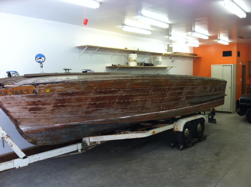 The start of the resurrection of a 1951 Chris Craft Holiday